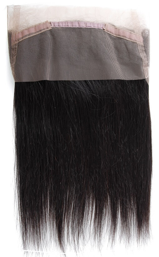 Natural Straight 360 Lace Frontal Inside